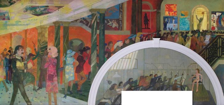 Живописное кафе при лондонской Королевской академии художеств (фото 1)
