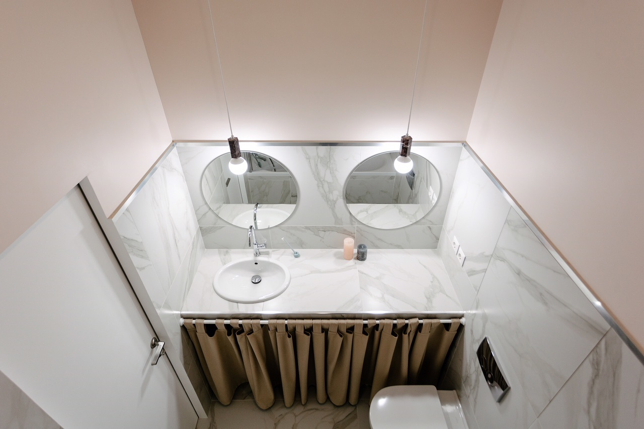 Розовая пудра: 12 ванных комнат в розовой гамме (галерея 0, фото 2)