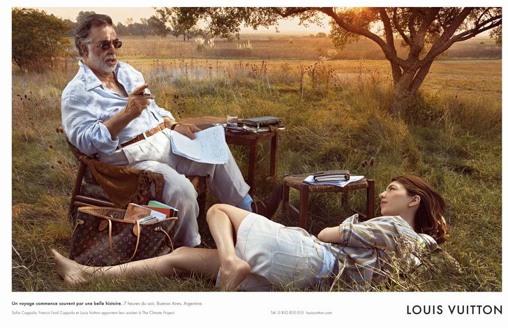 Фрэнсис Форд Коппола и София Коппола в рекламной кампании Louis Vuitton