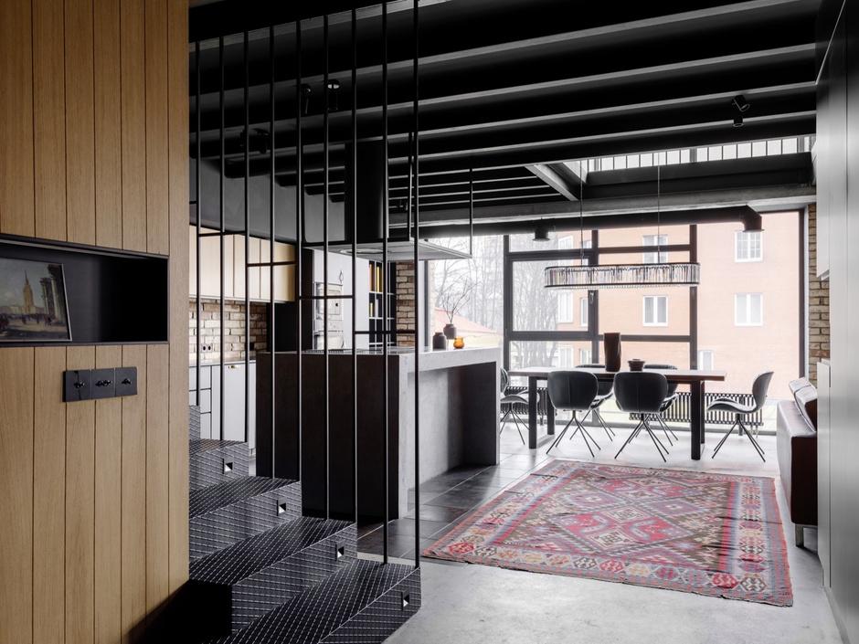 От заката до рассвета: квартира в стиле лофт (фото 0)