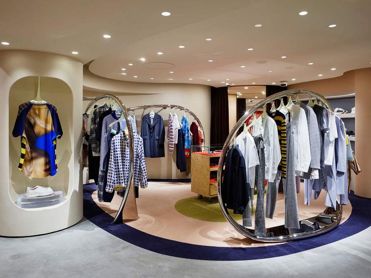 Извилистая геометрия: бутик Marni в Токио (фото 4)