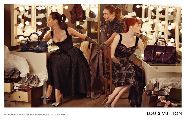 Наталья Водянова, Карен Элсон и Кристи Терлингтон в рекламной кампании Louis Vuitton