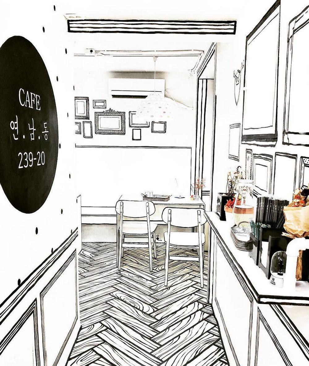 «Нарисованное» кафе в Сеуле (галерея 2, фото 0)