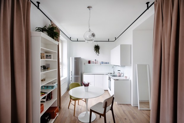 Квартира 33 м²: модный интерьер для молодой девушки от buro5 (фото 2)