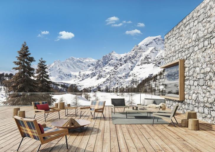В стиле шале: зимняя коллекция мебели outdoor от Ethimo (фото 2)