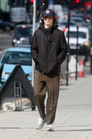 Красивый мальчик: Тимоти Шаламе гуляет по Лондону (фото 1.1)