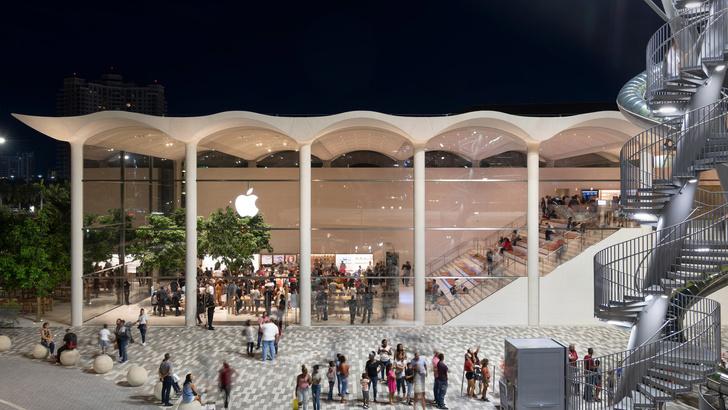 Новый бутик Apple в Майами по проекту Foster+Partners (фото 9)