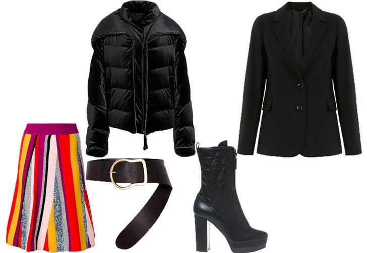 Широкий ремень: носим с пуховиком, пальто и платьем-рубашкой фото [4]