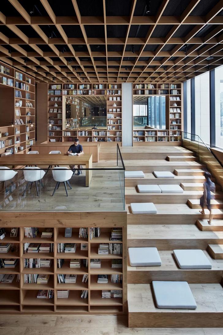 Деревянная библиотека в Ханчжоу (фото 10)