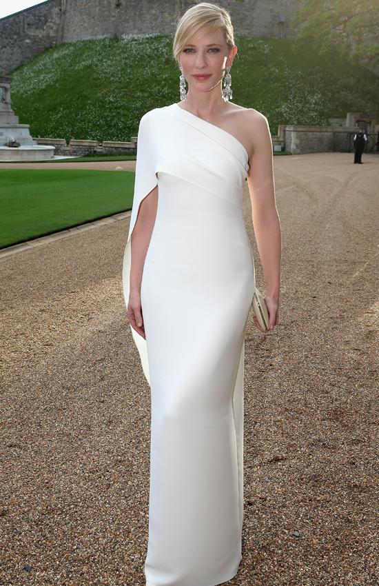 Кейт Бланшетт в Ralph Lauren, прием Герцога Кэмбриджского в Виндзоре