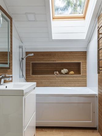 Ванная комната. Плитка, Porcelanosa. Мебель, ИКЕА.