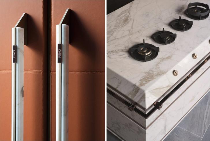 Мраморные отделки на кухне. 20 идей и объектов (фото 16)