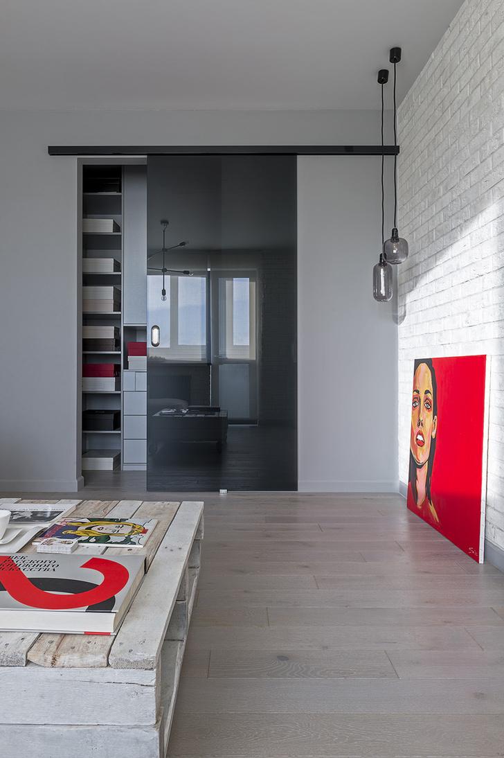 Современная квартира с элементами лофта в Москве