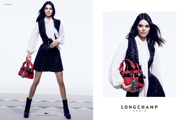 Кендалл Дженнер с главной сумкой сезона в новой рекламной кампании Longchamp (фото 3)