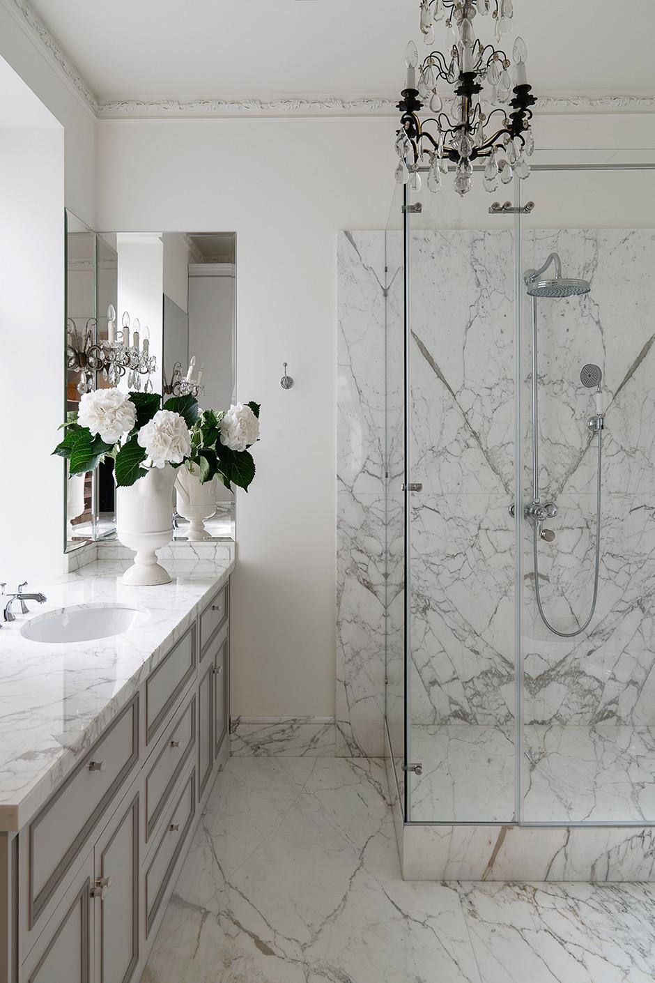 Мрамор в ванной комнате: 25+ примеров (галерея 1, фото 4)