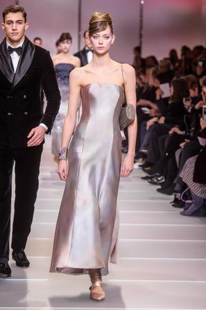 Показ Giorgio Armani Privé коллекции сезона Весна-лето 2018 года Haute couture - www.elle.ru - Подиум - фото 676551