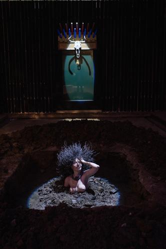 Инсталляция Олега Кулика в Крипте «Игры престолов» на Винзаводе (фото 2.1)
