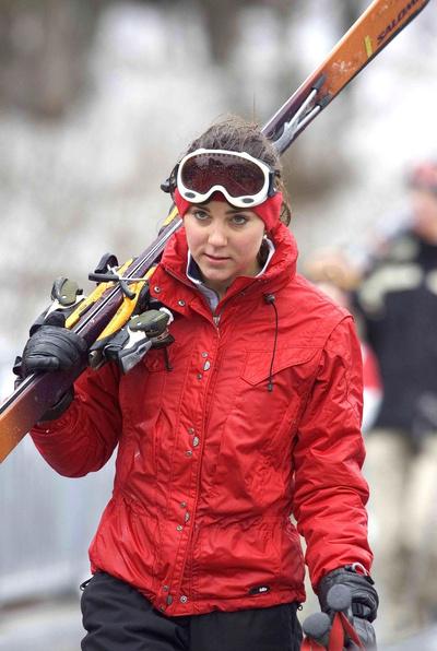 Кейт Миддлтон катается на лыжах в Швейцарии, 2005 год