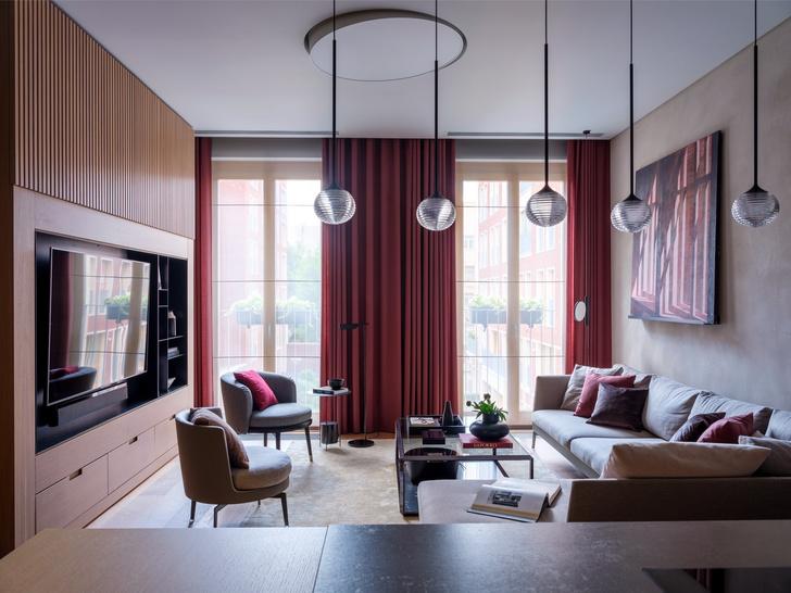 Сила цвета: яркая современная квартира в Москве (фото 5)