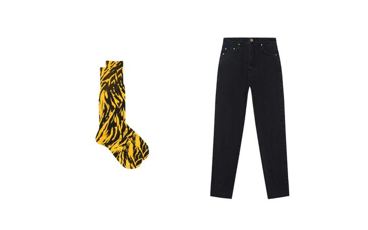 Джинсы + высокие носки: тренд для непогоды (фото 8)