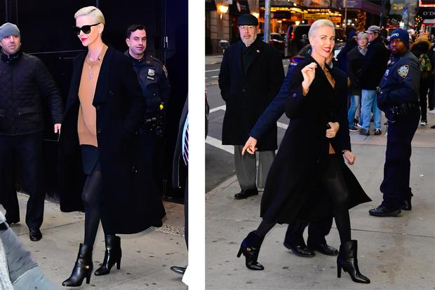 Взрывная блондинка: Шарлиз Терон в Нью-Йорке (фото 2)