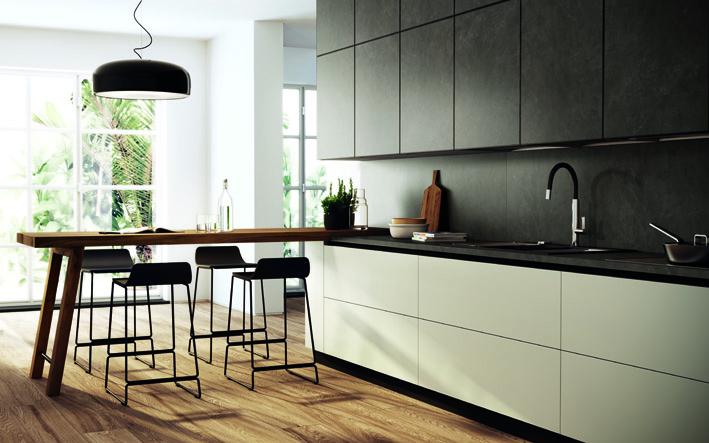 Кухни с фасадами из керамогранита от Scavolini | галерея [1] фото [2]
