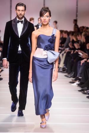 Показ Giorgio Armani Privé коллекции сезона Весна-лето 2018 года Haute couture - www.elle.ru - Подиум - фото 676491