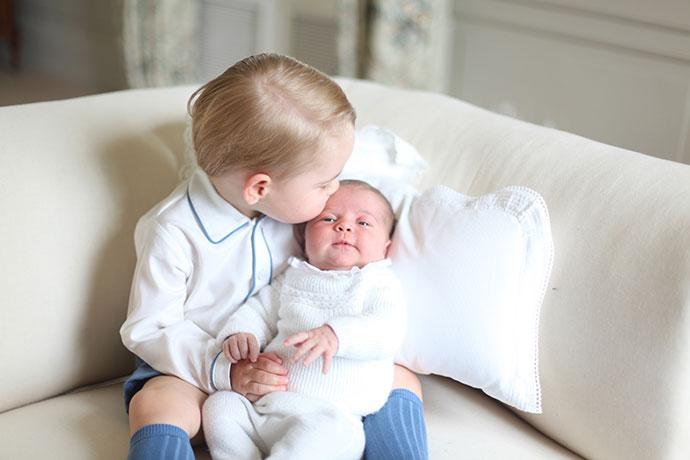 Принц Георг с сестрой принцессой Шарлоттой