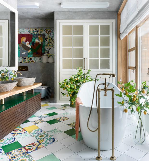 Стильная ванная комната: 10 актуальных трендов (фото 40)