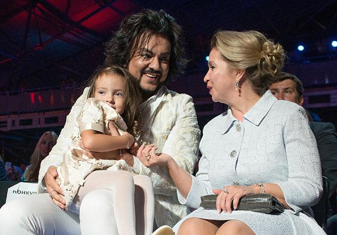 Филипп Киркоров с дочерью на фестивале «Новая волна»