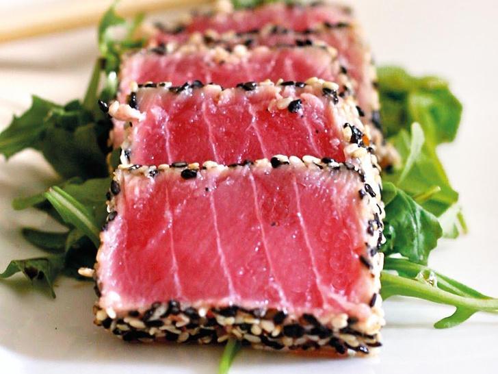 Салат сашими из тунца