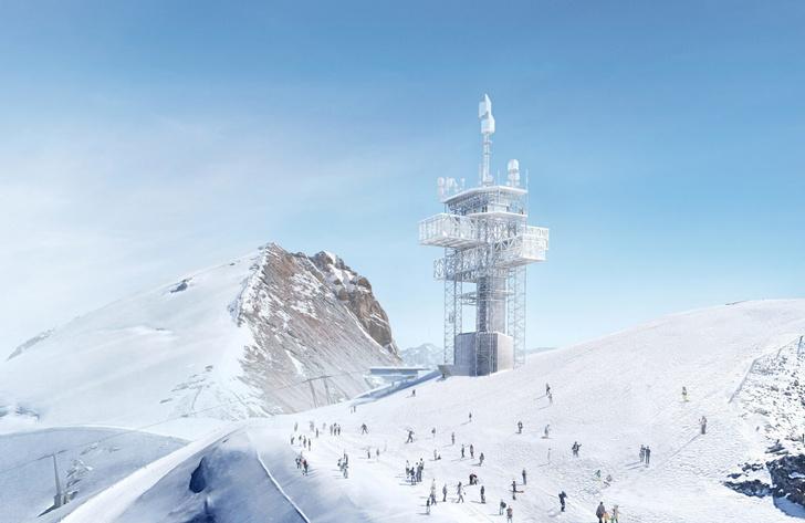 Башня-маяк и горнолыжная станция по проекту Herzog & de Meuron (фото 2)