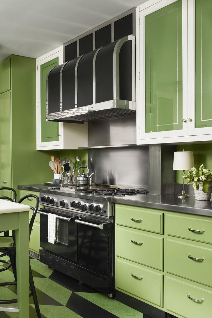 Зеленый цвет на кухне: 25+ вдохновляющих примеров (галерея 1, фото 19)