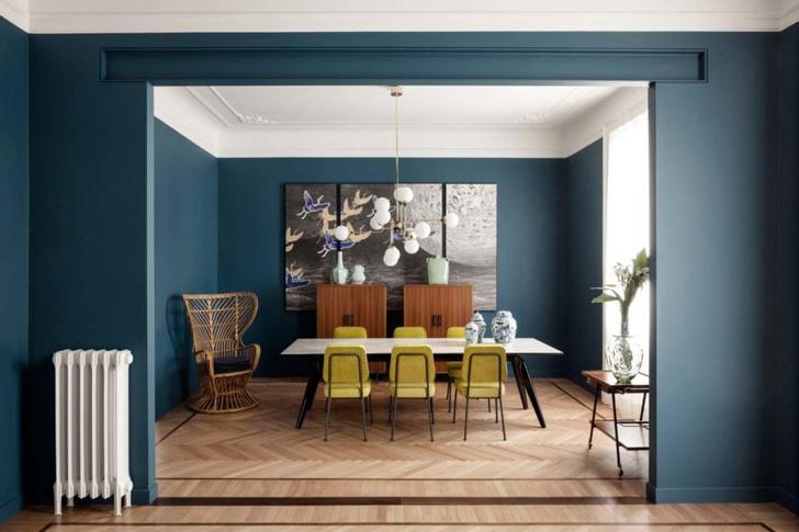 Эклектичная квартира 150 м² в Милане (фото 0)
