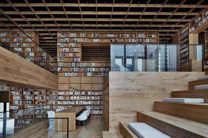 Деревянная библиотека в Ханчжоу (фото 19)