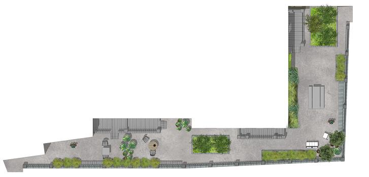 Сад на крыше в центре Москвы