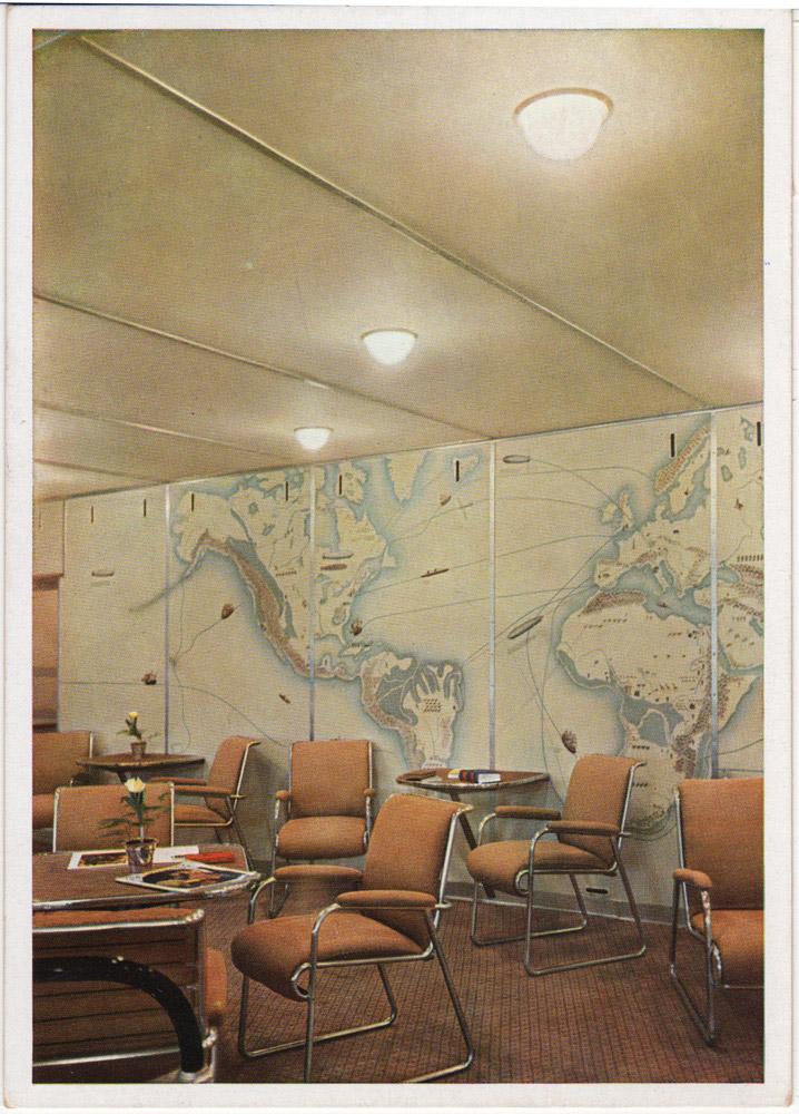 Интерьеры дирижабля «Гинденбург» (фото 10)