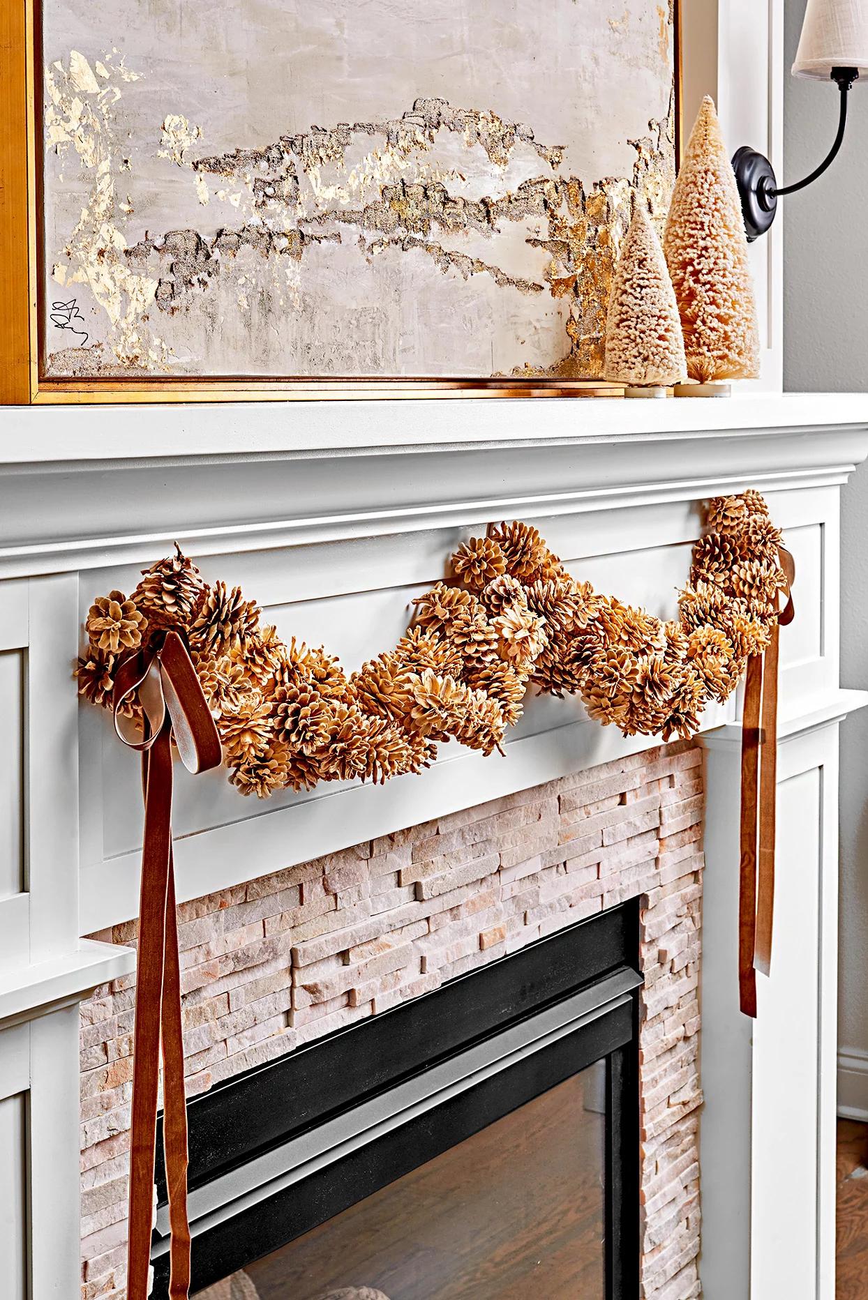 Рождественский декор из шишек: 20 идей и примеров (галерея 0, фото 10)