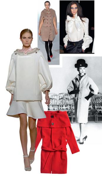Balenciaga 1961 год, пальто Martin Grant