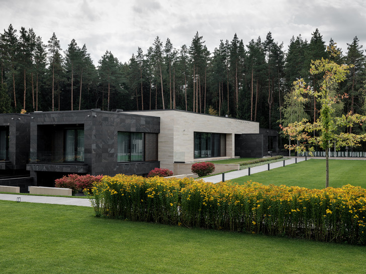 Современный дом  4500 м² с красивым садом на Новой Риге: проект бюро Woodstone (фото 4)