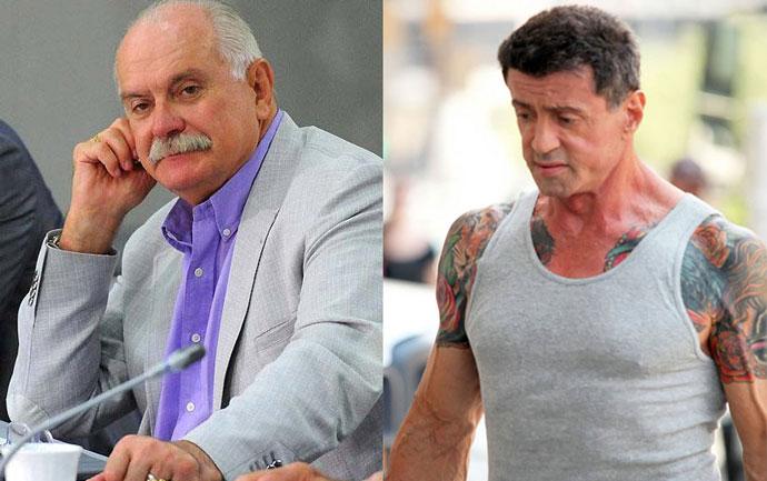 Никита Михалков и Сильвестр Сталонне 1