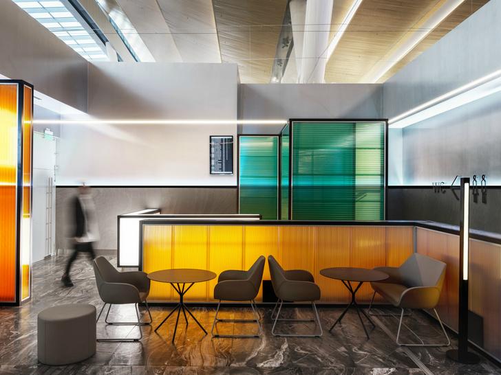 Бизнес-зал аэропорта «Платов» по проекту VOX Architects (фото 8)