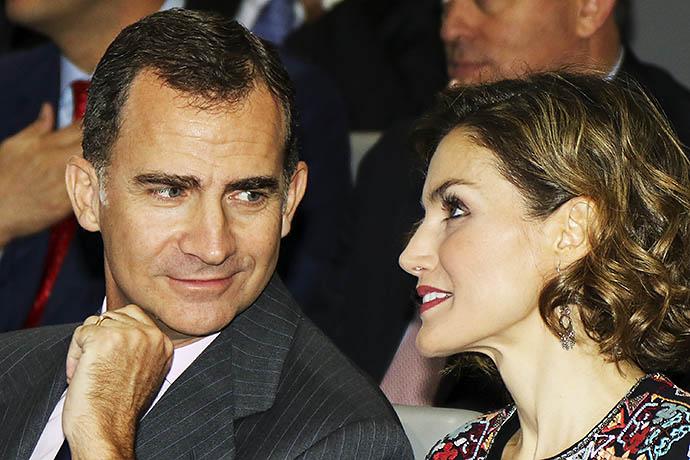 Король Испании Фелипе VI и королева Летисия