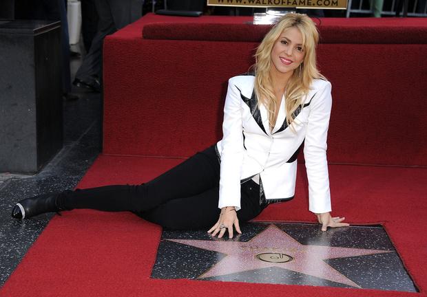 Шакира на Аллее славы в Голливуде
