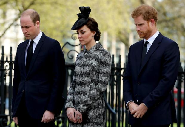 Принц Уильям, Кейт Миддлтон и принц Гарри