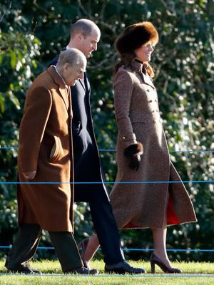 Кейт Миддлтон и принц Уильям посетили воскресную службу (фото 1)
