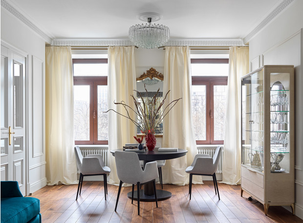 Квартира для семьи с тремя детьми в классическом стиле 140 м² (фото 0)
