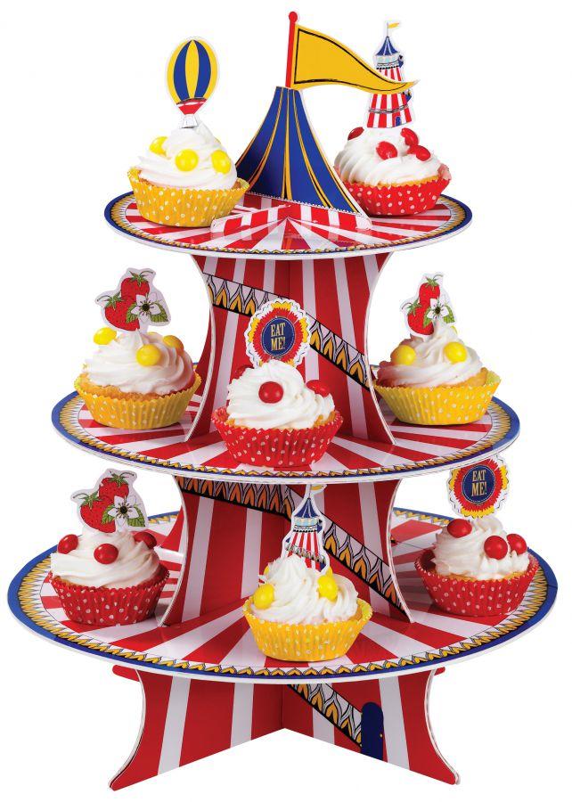 Блюдо для пирожных Circus, картон, принт, Bianca & Family, www.bianca-and-family.com