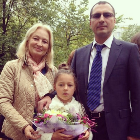 Ариадна Волочкова с бабушкой и отцом