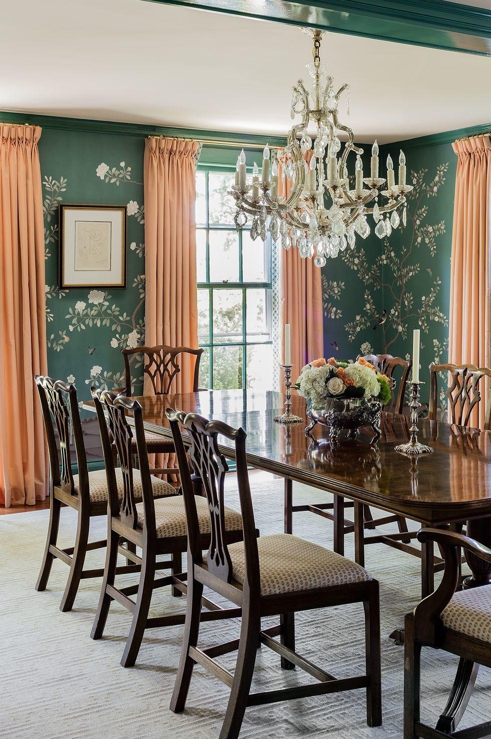 Обои в цветочек в столовой: 25+ вдохновляющих примеров (галерея 1, фото 4)